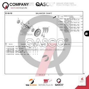 E16-10 | BALANCER SHAFT | CB300R