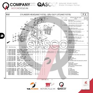 E2 | Đầu quy  lát (ANC1107/8) | Air Blade 110