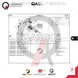 E23 | Chế hòa khí - Họng ga - Bướm ga | Winner 150