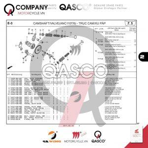 E3 | Trục cam - Xu páp ( ANC1107/8) | Air Blade 110