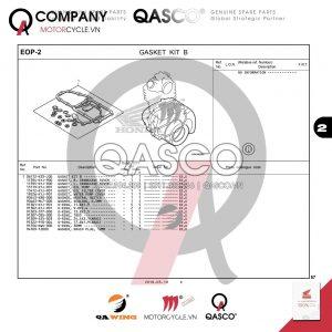 EOP2 | Bộ gioăng máy B | CB300R