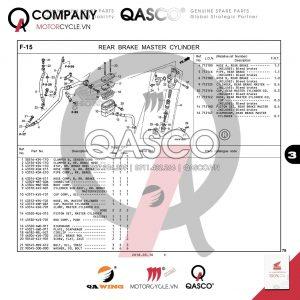 F15 | Pen đạp - Hệ thống dẫn dầu phanh sau | CB300R