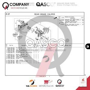 F17 | Hệ thống phanh sau | CB300R