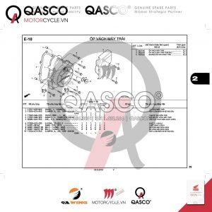 E10 | Ốp vách máy trái | WAVE 110 RSX
