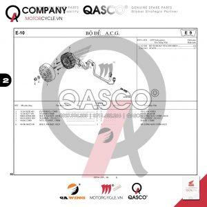 E10 | Bộ đề A.C.G | Air Blade 125