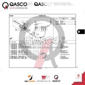 E23 | Họng ga | WAVE 110 RSX