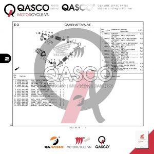 E3   CAMSHAFT - VALVE   MSX 125 SF
