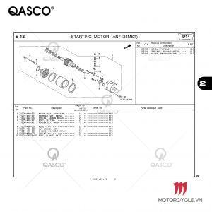 E12 | STARTING MOTOR (ANF125MST) | Future NEO