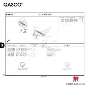 F14-10 | GÁC CHÂN SAU | LEAD 125