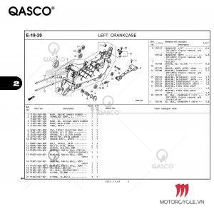 E19-20 | LEFT CRANKCASE | PCX 125 / PCX 150 (WW125J WW150J) (2017-2020)
