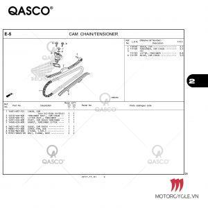E5 | CAM CHAIN/TENSIONER | PCX 125 / PCX 150 (WW125J WW150J) (2017-2020)