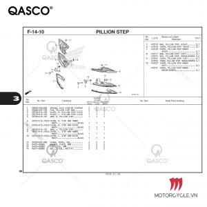F14-10 - PILLION STEP - PCX 160 K1Z (2021)