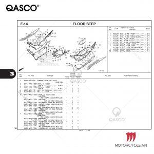 F14 - FLOOR STEP - PCX 160 K1Z (2021)