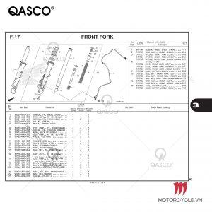 F17 - FRONT FORK - PCX 160 K1Z (2021)