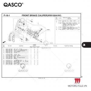 F18-1 - FRONT BRAKE CALIPER(WW150A/HV) - PCX 160 K1Z (2021)
