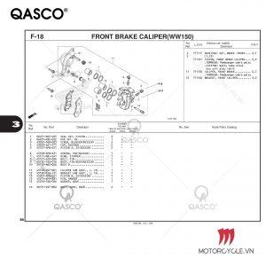 F18 - FRONT BRAKE CALIPER(WW150) - PCX 160 K1Z (2021)