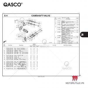 E4 - CAMSHAFT/VALVE - PCX 160 K1Z (2021)