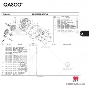 E17-10 - TRANSMISSION - PCX 160 K1Z (2021)
