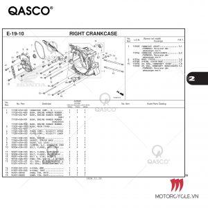 E19-10 - RIGHT CRANKCASE - PCX 160 K1Z (2021)
