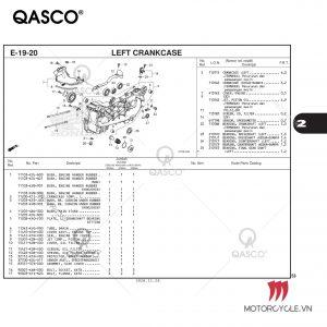 E19-20 - LEFT CRANKCASE - PCX 160 K1Z (2021)