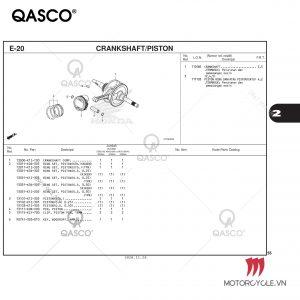 E20-CRANKSHAFT/PISTON-PCX 160 K1Z (2021)