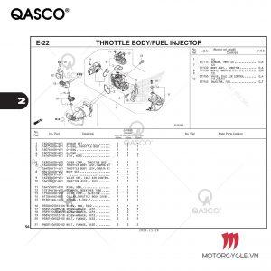 E22-THROTTLE BODY/FUEL INJECTOR-PCX 160 K1Z (2021)