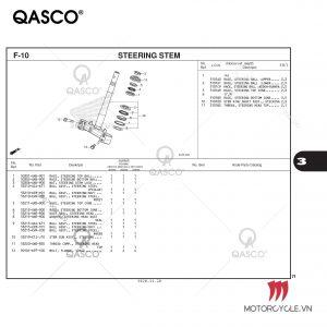 F10 - STEERING STEM - PCX 160 K1Z (2021)