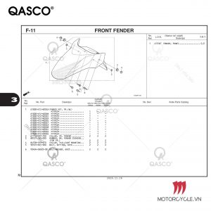 F11 - FRONT FENDER - PCX 160 K1Z (2021)