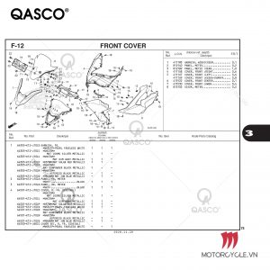 F12 - FRONT COVER - PCX 160 K1Z (2021)