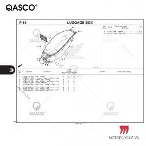 F16 - LUGGAGE BOX - PCX 160 K1Z (2021)